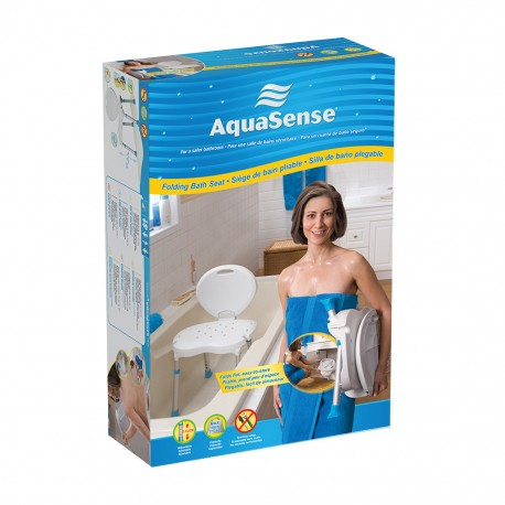 AquaSense Ergonomic Folding Bath Seat